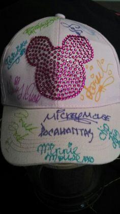 Disney autograph hat!
