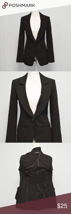 White House Black Market tuxedo blazer jacket XXS White House Black Market black tuxedo jacket/blazer with fray collar detail. One button closure. Very beautiful, timeless blazer. Size xxs In excellent condition. White House Black Market Jackets & Coats Blazers