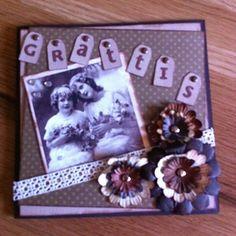 GRATTIS! Birthdaycard in vintagestyle.