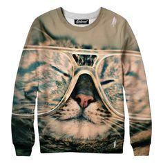 Hipster Cat Sweatshirt