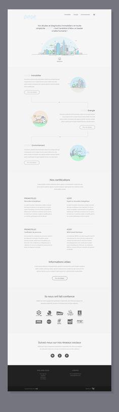 Minimal white website /ui design with creative illustrations.