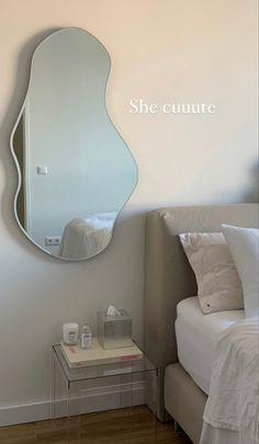 Room Design Bedroom, Room Ideas Bedroom, Bedroom Decor, Mirror Bedroom, Bedroom Inspo, Bedroom Apartment, Pastel Room, Minimalist Room, Cute Room Decor