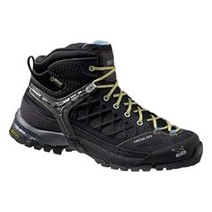Salewa Womens Firetail EVO Mid GTX Approach Shoes Black  Gneiss 9  ETip Glove Bundle >>> Click image to review more details.(This is an Amazon affiliate link and I receive a commission for the sales)