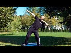 Strength and endurance exercises for men on the bellicon rebounder