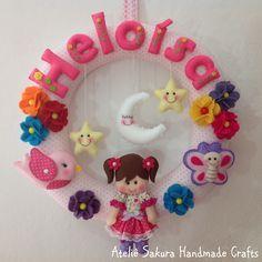 Guirlanda Porta de Maternidade personalizado para a Heloísa