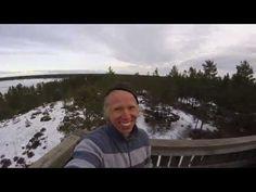 Climbing a birdwatching tower