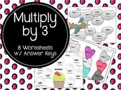 8 multiplication worksheets to help your students review their 2 times tables.Answer keys included.