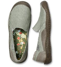 Keen Summer Golden Canvas Slip-Ons in drizzle. I have to find these shoes!!
