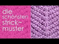 """Stricken mit eliZZZa * Strickmuster """"Fischgrat"""" - YouTube"""