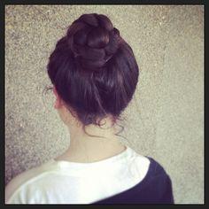 pretty braided bun