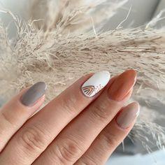 Cute Shellac Nails, Neutral Gel Nails, Neutral Nail Designs, Shellac Nail Designs, Fall Gel Nails, Autumn Nails, Get Nails, Nails Design, Vogue Nails