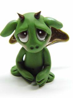 "Cute Baby Dragons | OOAK Handmade Polymer Clay Tiny Baby Dragon ""Agustus"" | Flickr - Photo ..."