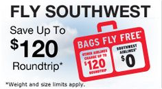 We've got two roundtrip tickets for our Rolling for Pink Auction!  Thank you Southwest Airlines!