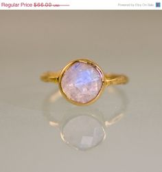 Cyber Monday Sale  Rainbow Moonstone Ring  June by delezhen, $52.80