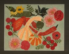 BB Needlepoint Designs BB 54 Squash and Peppers Stitch guide available