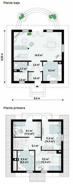 Casa amarela de 3 quartos