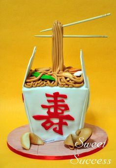 Chinese Noodles Cake by Sweet Success Chinese Cake, Japanese Cake, Chinese Food, Crazy Cakes, Fancy Cakes, Unique Cakes, Creative Cakes, Cupcakes, Cupcake Cakes