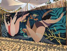 Hilda Palafox's Wistful, Feminine Illustrations Hilda Palafox's Wistful, Feminine Illustrations Mural Wall Art, Mural Painting, Gouache Painting, Painting Canvas, Murals Street Art, Street Art Graffiti, Art Plastique, Public Art, Tag Art