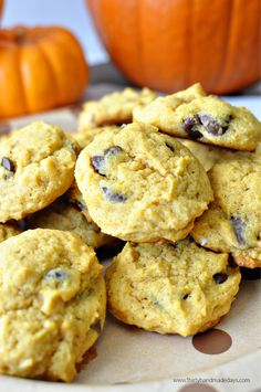 The best Old Fashioned Chocolate Chip Pumpkin Cookies from www.thirtyhandmadedays.com