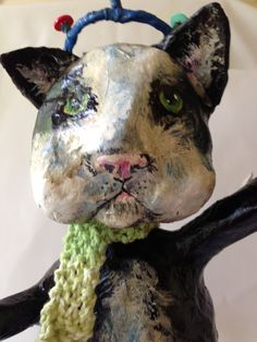 """Ester""...Paper Mache art by the Crafty Donkey."