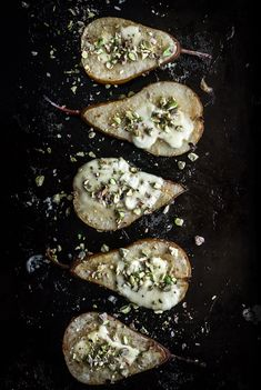 Roasted Pears with Brie and Pistachios