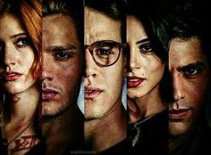 Clary, Jace, Simon, Izzy, Alec