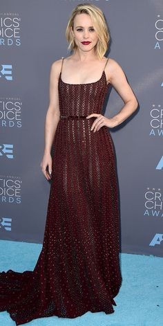 Critics' Choice Awards: Red Carpet Looks You Need to See | People - Rachel McAdams in a burgundy Elie Saab dress