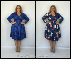 Lady V London: Lady Voluptuous Cosette Dress reviewed in size 16 and 18 http://www.curvywordy.com/2015/06/lady-v-london-lady-voluptuous-blue.html