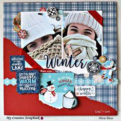 we bring a scrapbook store to your door Scrapbook Pages, Scrapbook Layouts, Scrapbooking, Angel Show, Winter Walk, Christmas Scrapbook, Simple Stories, Cozy Blankets, Mittens