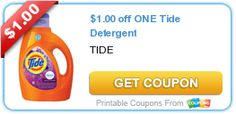 Printable Coupon of the Week: $1.00 off 1 Tide Detergent | The Happy Housewife