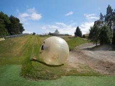 Zorbing, Rotorua, New Zealand
