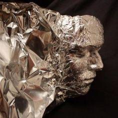 Zou het werken als je een gezicht met huishoudfolie bedekt om een afdruk te maken?