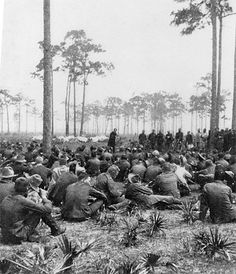 Chaplain Brown preaching to the regiment, 1898. From the University of Florida Digital Collections