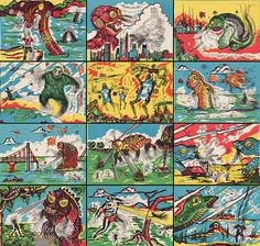 MONSTER BRAINS: Monster Magic Action Trading Cards (1963)
