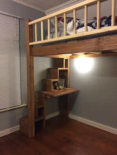 📣 42 Model Of Kids Bunk Bed Design Ideas Top 5 Bunk Beds To Choose From 29 - Bed and Bedcover Safe Bunk Beds, Cool Bunk Beds, Kids Bunk Beds, Loft Beds, Diy Bed Loft, Bunk Bed Ideas For Small Rooms, Loft Bed Plans, Murphy Bed Plans, Murphy Beds