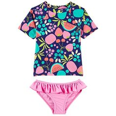 72943e9a7076a Snapper Rock Girls' Watermelon Skirted One Piece Swimsuit (3-24mos) at  SwimOutlet.com – The Web's most popular swim shop   Baby B   Watermelon  skirt, One ...