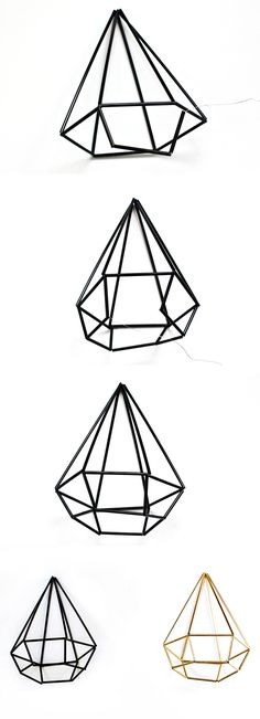 DIY himmeli geometric gem tutorial