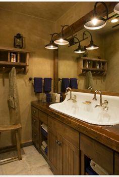 Western style old fashioned bathroom