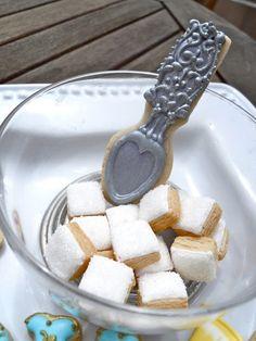 Spoon and sugar cubes! .Oh Sugar Events: sugar cookies