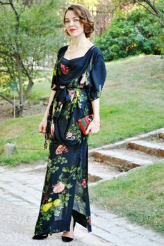 ¡Vestidos largos y de estampado floral!