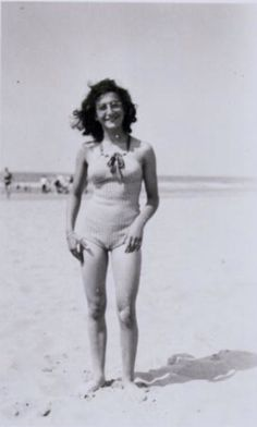 Margot Frank on the beach of Zandvoort, aug1940
