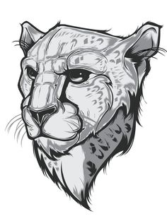 065 - Cheetah Illustration by Joshua M. Smith, via Behance