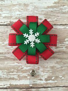 Diy Christmas Fireplace, Diy Christmas Snowflakes, Christmas Hair Bows, Snowflake Decorations, Christmas Crafts, Making Hair Bows, Diy Hair Bows, Diy Ribbon, Ribbon Crafts