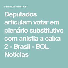 Deputados articulam votar em plenário substitutivo com anistia a caixa 2 - Brasil - BOL Notícias