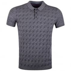 Ted Baker Navy Fleck Square Patterned Polo Shirt. Available now at www.brother2brother.co.uk