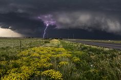 Texas Cloud-to-Ground Lightning Strike, taken outside Canadian, Texas by Camille Seaman