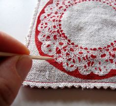 How to on doily coasters!