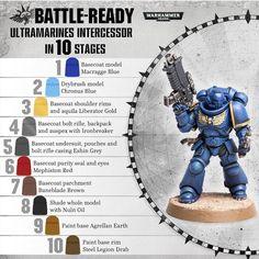 Warhammer 40k Figures, Warhammer Paint, Warhammer Models, Warhammer 40k Miniatures, Warhammer Fantasy, Warhammer 40000, Warhammer Armies, Painting Recipe, Painting Tips