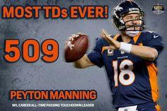 History made tonight at Mile High! Congrats Payton Manning!! ♡