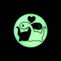 Sold as a Pair Midnight Owl Single Flared Ear Gauge Plug